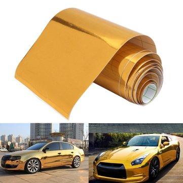 10cmx150cm Gold Vinyl Wrap Film Car Sticker Decal Air Bubble Free