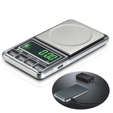 Bang good 1000g 0.1g USB Digital Pocket Charging Scale Jewelry Scale Balance Weighing Scale g/oz/ozt/dwt/ct/t/gn