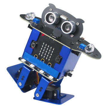 Xiao R HappyBot Microbit Smart Programmable Obstacle Avoidance APP/Stick Control RC Dancing Robot