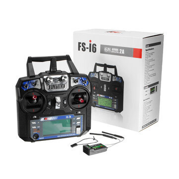 $42.99 for FlySky FS-i6 2.4G 6CH AFHDS RC Radion Transmitter With FS-iA6B Receiver for RC FPV Drone