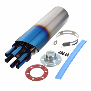 100mm Grilled Blue Stainless Rotating Slip-on Exhaust Muffler Pipe For Motorcycle