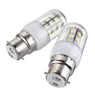 B22 LED lâmpadas 12v 3W 27 SMD 5050 luz branca quente / milho branco
