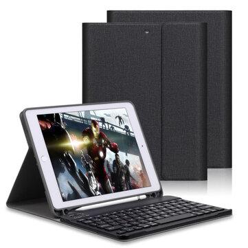 Auto Sleep Avtakbar blåtann Trådløs Keyboard Kickstand Tablet Case Med Pencil Holder For iPad 9,7 Tommer 2018/iPad 9,7 Tommer 2017/iPad Air/iPad Air 2/iPad Pro 9.7 Tommer