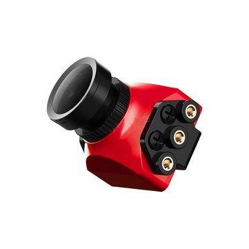 फॉक्सियर Arrow Mini Pro 2.5 मिमी 650TVL 4: 3 WDR एफपीवी कैमरा ब्रैकेट NTSC / PAL / ब्लैक / रेड के साथ निर्मित OSD