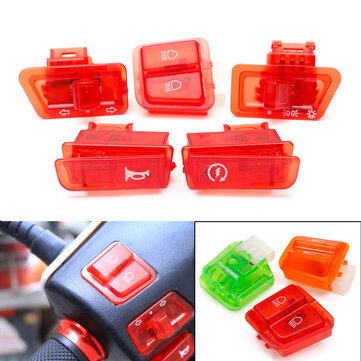 Turn Signal Head Light Horn Dimmer Starter DIY Switch Button For GY6 50cc 125cc 150cc Moped Scooter