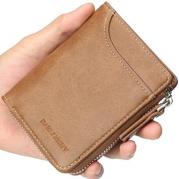 Baellerryメンズ多機能ショート財布カードホルダークラッチバッグ
