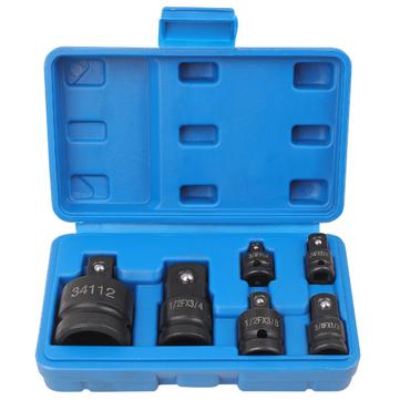 Hi-Spec 6Pcs 1/4 1/2 3/8 3/4 Socket Wrench Hand Wrench Tool Set Impact Socket Adaptor Reducer Adapter Ratchet Breaker Driver