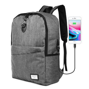 USB-lader Ryggsekk Anti-Thief Laptop Travel Skulderpose med hodetelefonkontakt for MacBook