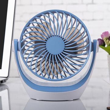 Electronic Portable USB Charging Desktop Mini 180 Degree Rotation 2 Grade Adjustment Fan for Home Office