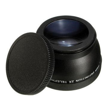 58mm 2x Magnification Telephoto Lens for Canon Eos Nikon Pentax DSLR Camera