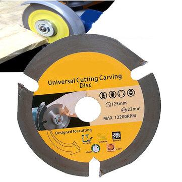 Drillpro 125mm 3T ใบเลื่อยวงเดือนใบเลื่อยตัดเลื่อยแผ่นคาร์ไบด์แผ่นตัดไม้