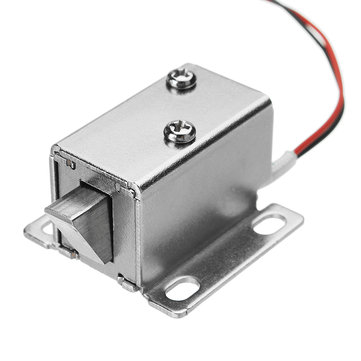 12V DC 0.43A Cabinet Electric Lock Assembly Solenoid Drawer Door Lock 27x29x18mm