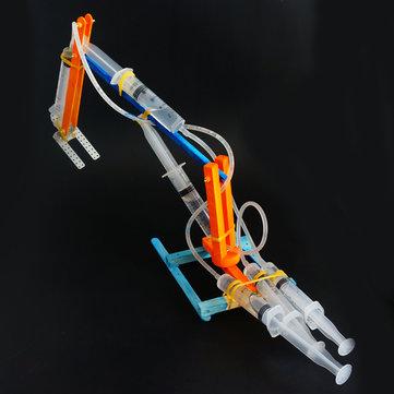 बच्चों के लिए DIY हाइड्रोलिक खुदाई रोबोट DIY शैक्षिक खिलौना रोबोट इकट्ठे खिलौना उपहार