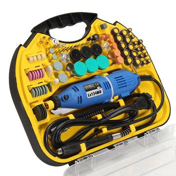 Drillpro AC 220V Elektrisk roterande borrkvarn Graveringsmaskin DIY verktyg Elektrisk borruppsättning