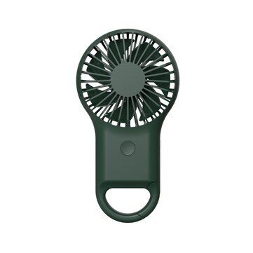 Handheld Colorful LED Fan Mini 3 Speed Carabiner Fan Summer Cooling USB Rechargeable Fan Camping Travel
