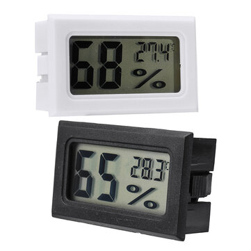 Mini Embedded LCD Digital Display Temperature Humidity Meter Cordless Thermometer Hygrometer