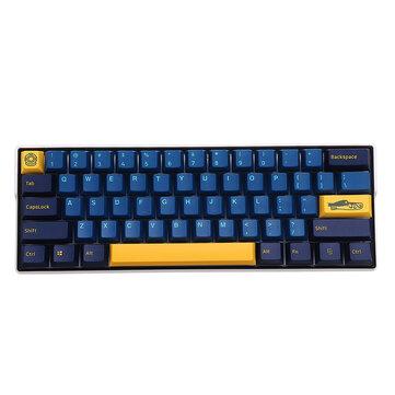 MechZone 109 Keys Blue Yellow Keycap Set OEM Profile PBT Keycaps for 61/68/87/104/108 Keys Mechanical Keyboards