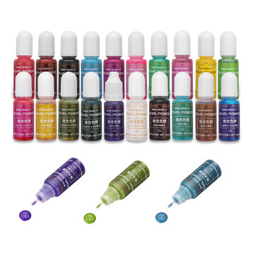 15g Shiny Color Epoxy UV Resin Pigment DIY Jewelry Coloring Dye Glue 20 Colors