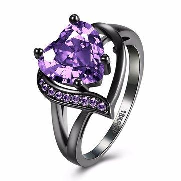 INALIS Heart Zircon Rhinestone Ring For Women