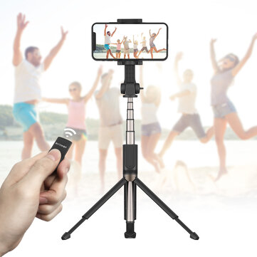 BlitzWolf BW-BS4 Extended Multi-angle Rotation bluetooth Tripod Selfie Stick for Smartphones