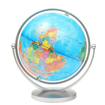 Mundo, globo, terra, oceânicos, atlas, mapa, girar ...