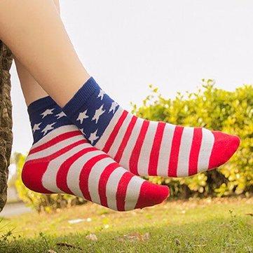 Buy Unisex Tube Socks Casual Crew Ankle American USA Star Flag Stripes Glory Socks with 2 on Gipsybee.com