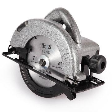 220V 7 Inch Sierras circulares eléctricas 1480W Sierras eléctricas Máquinas para cortar madera con sierra 60T
