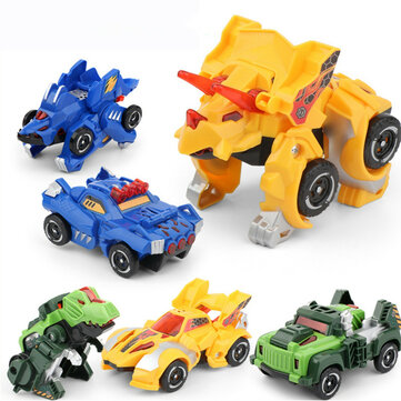 Children's Vehicle Model Toy inertia Dinosaur Deformation Car Robot Car Early Education Puzzle Toy for Boys Kids