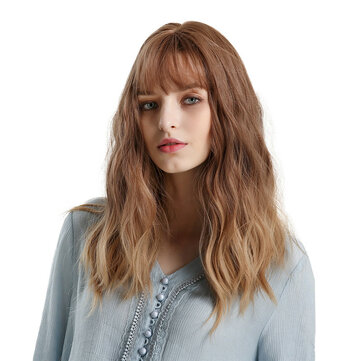 Blonde Unicorn Gradient Brown Gradient Golden Curly Long Full-fledged Fluffy Lady Full Wig Wear Simple Fashion Trend for sale in Bitcoin, Litecoin, Ethereum, Bitcoin Cash with the best price and Free Shipping on Gipsybee.com
