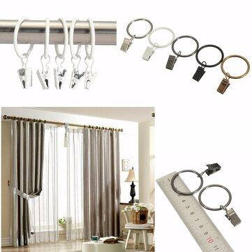 40pcs clips ventana metálica baño cortina anillos gasa varilla polo 32mm cortinas diámetro interior