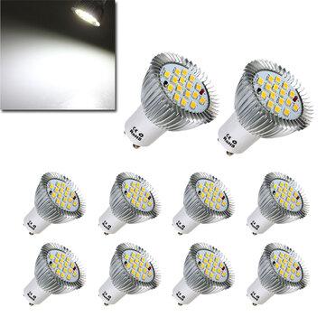 10X GU10 7W 640LM Pure White 16 SMD 5630 LED Light Bulbs Lamps AC85-265V