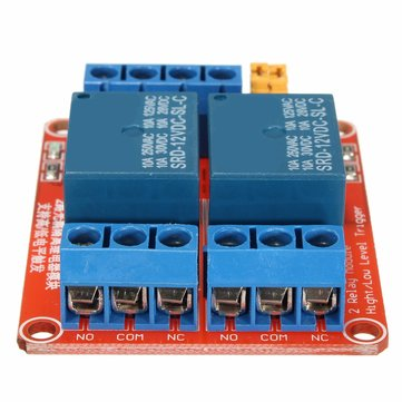 5Pcs 12V 2 Channel Relay Module With Optocoupler Support High Low Level Trigger For Arduino