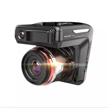 2 In 1 Full HD 1080P Car DVR Radar Detector Highway Mode Laser Car DVRs 170 Video Recorder Logger Dash Cam GPS Video Camcorder