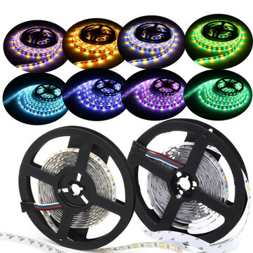 5M Waterproof RGBW RGBWW SMD 5050 LED Flexible Strip Light for Christmas Decor DC12V
