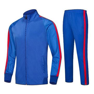Traje de deportes al aire libre para hombre trajes de color de costura casual transpirable Running Training Sportswears