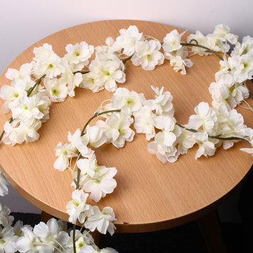 Flor de cerezo de seda artificial que cuelga las guirnaldas de la vid Boda decoraciones