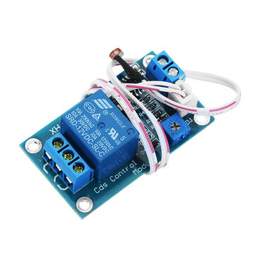 XH-M131 DC 12V Photosensitive Resistor Module Light Control Switch Photosensitive Relay Power Module With Probe Cable Automatic Control Brightness With Reverse Connection Protection Function