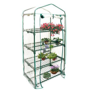 69 × 49 × 160 cm Jardín Casa verde Mini portátil al aire libre Cubierta de invernadero cálido Plantas florales Jardinería