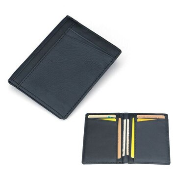 meet 4a92e 611c3 Men PU Leather Slim Thin Credit Card Holder Mini Money Wallet ID Case Wallet