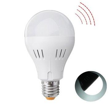 E27 A60 5W 320LM Pure White Natural White Microwave Radar Sensor Emergency LED Light Bulb AC85-265V