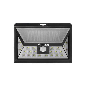 ARILUX® PL-SL 09 Solar Light 24 LED Waterproof PIR Motion Sensor Light Outdoor Wide Angle Wall Lamp