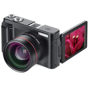 DC101 24MP 16X Zoom Focus 1080P HD Appareil photo reflex numérique de 50 pouces avec écran de 50 pouces et objectif macro