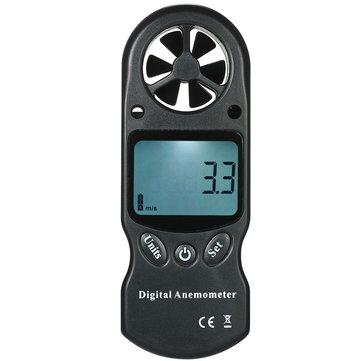 3 in 1 Handheld Digital Anemometer Kecepatan Angin Meter Thermometer Hygrometer Suhu & Kelembaban Tester dengan LCD Backlight