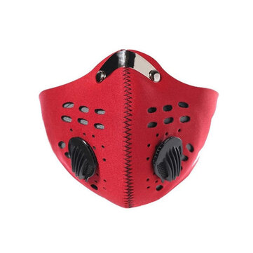 Motorcycle 5layer Anti Dust Pollution PM2.5 Face Mouth Mask Filter Respirator Reusable