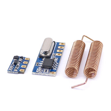 10pcs 433MHz Wireless Transceiver Kit Mini RF Transmitter Receiver Module + 20PCS Spring Antennas OPEN-SMART for Arduino - products that work with official for Arduino boards for sale in Litecoin with Fast and Free Shipping on Gipsybee.com