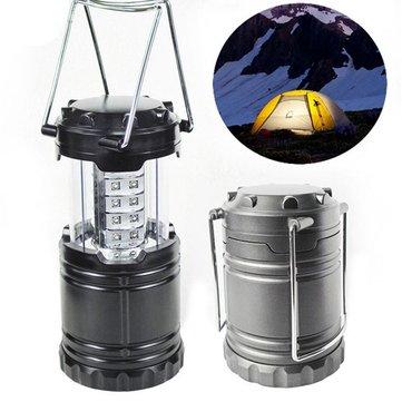 ポータブル30 LEDストレッチランタンキャンプランプバッテリーテントハイキングライト