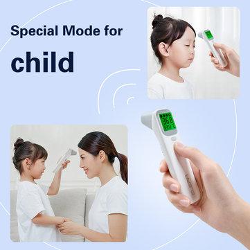KCASA Baby Infrared Digital Termometro LCD Corpo di febbre di misurazione del corpo IR Fronte Orecchio Sensore di temperatura per bambini senza contatto