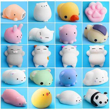 Mochi Squishy Gato Kitten Seal Squeeze Cute Healing Toy Kawaii Colección Stress Reliever Regalo Decoración