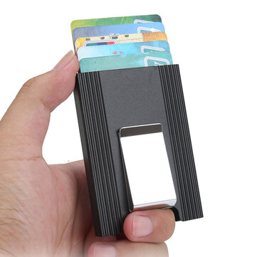 IPRee® Aluminum Alloy Card Holder Credit Card Case ID Card Box Metal Wallet Men Clip Business Travel