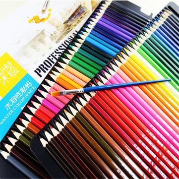 72 रंगीन पेंसिल आर्ट ड्रॉइंग सॉफ्ट कोर पेंसिल लीड वॉटर सोल्यूबल कलर पेन सेट